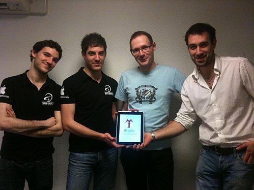 De gauche à droite: François-Julien, Anthony, moi et Mathieu.